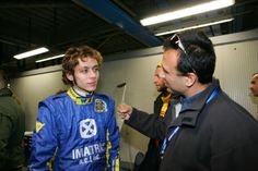 Valentino Rossi, during a rally with Subaru in Monza. We spent three days in his box thanks to my friend Michael Zotos, VR's personal mechanic that time