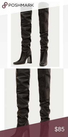 286031f7788e Zara Slouchy Boots Beautiful Zara over the knee boots. They look amazing and  very high end. Zara Shoes Over the Knee Boots