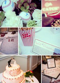 Home run worthy baseball inspiration at this New York wedding