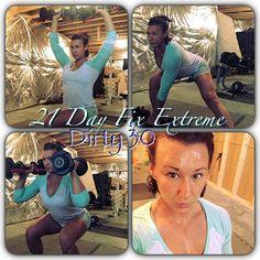 Dirty 30 workout  #dirty30 #21dayfixextreme #sweat