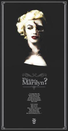 Who Killed Marilyn ? by Rodrigo Medina Cardoch, via Behance