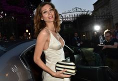 Beautiful actress Margarteh Made in the spotlight at 60th Taormina Film Festival with a Maserati Ghibli.