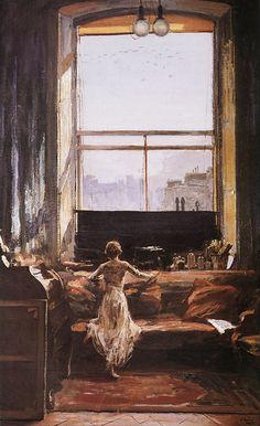 The Studio Window (Sir John Lavery, R.A.)