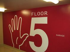 Wayfinding | Seattle Parking Garage - Floor 5