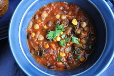 Stepping Out with Three Bean Vegetarian Chili :: HipFoodieMom.com