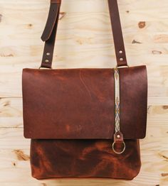 Explorer Leather Satchel Bag | Crafted in rich, brown leather, this sturdy satchel bag is mad... | Satchels
