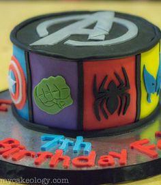 Avengers Cake http://www.mycakeology.com