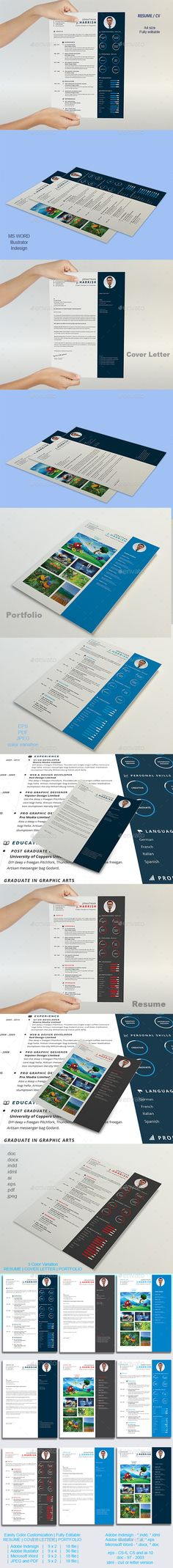 Resume Cv template and Resume cv - microsoft resume and cv templates