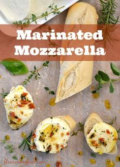 Fresh herbs, sun-dried tomatoes, and olive oil make a delicious Marinated Mozzarella appetizer recipe via flouronmyface.com