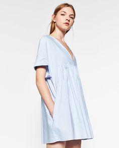 ZARA - TRF - LOW-CUT JUMPSUIT DRESS