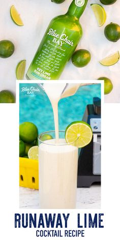 Roll baby roll. This easy frozen key lime cocktail recipe is sweet and smooth. This four ingredient drink tastes just like dessert. Blend all ingredients on high. Pour the good stuff in a glass. Garnish with a cherry and pineapple wedge. #bluechairbay #keylimerumcream Fruity Mixed Drinks, Mixed Drinks Alcohol, Alcohol Drink Recipes, Fun Drinks, Yummy Drinks, Party Drinks, Rum Recipes, Coctails Recipes, Punch Recipes