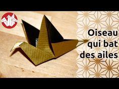 Origami - Oiseau qui bat des ailes - Flapping bird (HD) [Senbazuru] - YouTube