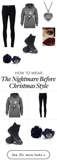 """gothica"" by stacinr on Polyvore featuring Ström and Converse"