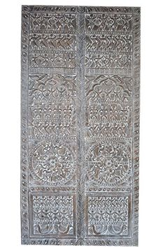 Spanish Style Interiors, Wooden Barn Doors, Indian Doors, Black Doors, Vintage Bohemian, Panel Doors, Wall Sculptures, Door Design, House Painting