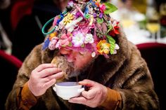 A homeless man enjoys a Christmas dinner for the homeless at the Koepelkerk in Amsterdam, the Netherlands. The dinner was offered by the Dutch Salvation Army. Picture: EPA/ROBIN VAN LONKHUIJSEN