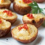 Menu for movie- PHILOMENA: Smoked Salmon and Cheese Mini Twice-Baked Potatoes, a nod to the story's beginning setting in Ireland