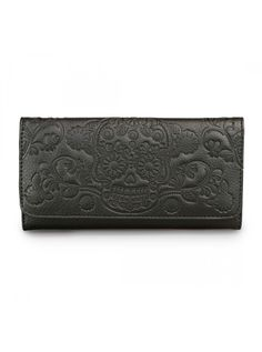 """Sugar Skull Embossed"" Wallet by Loungefly (Black)"