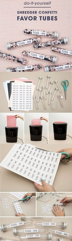 diy shredder confetti wedding favor ideas