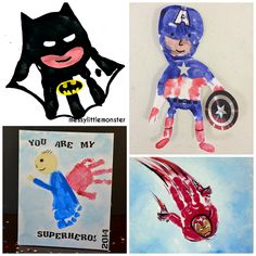 Amazing Superhero Handprint Crafts for Kids - Crafty Morning