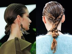 Wet look hair: the wet hair you can go outdoors with Wet Look Hair, Wet Hair, Twist Ponytail, Go Outdoors, Hair Trends, Compliments, Dreadlocks, Hairstyle, Beauty