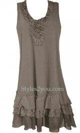 Remy Antique Shirt Dress In Ecru