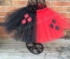 Adult Harley Quinn/Jester tutu. Available in plus by LisasTutus, $25.00