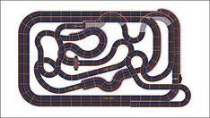 60 Meter Carrera Bahn - Plan