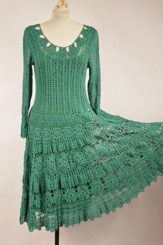 Suknia ręcznie robiona na szydełku - hand made