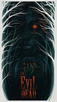 Horror Icons, Horror Movie Posters, Movie Poster Art, Best Horror Movies, Scary Movies, Comedy Movies, Arte Horror, Horror Art, Evil Dead