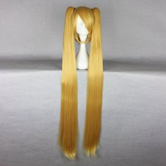Synthetic None-lacewigs Mcoser Cosplay Chobits-chii Womens Anime 130cm Long Beige Straight Lolita Party Synthetic Hair Full Wig Volume Large Hair Extensions & Wigs