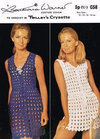Twilleys 58 - ladies dress vintage crochet pattern