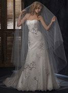 Geneva - by Maggie Sottero  I love the three dimensional look. I just wish the skirt was slight more voluminous.
