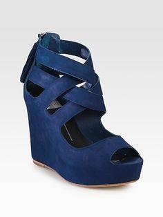 Dolce Vita  Jade Suede Wedge Sandals