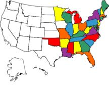 All the states I have visited. Guess I need to visit the West Coast...added it to my bucket list...before I turn 40.