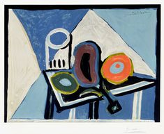 Pablo Picasso, Nature morte à l'aubergine (Still Life with Eggplant), c. 1946 at Masterworks Fine Art Gallery. Picasso lithographs for sale at Masterworks Fine Art Gallery.