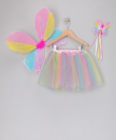 Take a look at this Rainbow Pixie Tutu Set - Girls by Princess Expressions on #zulily today!