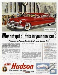Hudson Art Owners of Low-built Hudsons Have It (1949)