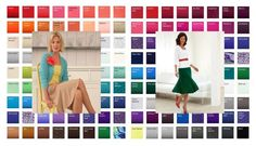Tonal color analysis BRIGHT can wear the bright tones from both Spring and Winter. #color analysis #bright coloring