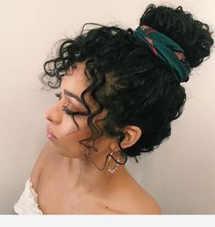 Amazing curly hairstyle and earrings