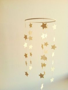 DIY Wrapping Gifts Inspiration : Baby Star Nursery Crib Mobile Any Color Custom by WhitehallFarmMD, Gold Nursery, Nursery Crib, Star Nursery, Nursery Decor, Room Decor, Best Crib Mobile, Star Mobile, Diy Crib, Nursery Inspiration