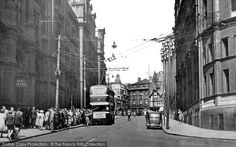 Nottingham, Queen Street from Francis Frith Nottingham City, Old Photos, Over The Years, Transportation, The Past, Street View, Queen, Taxi, Family History