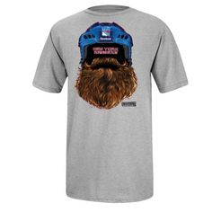 Reebok New York Rangers 2014 NHL Playoffs Beard T-Shirt - Ash