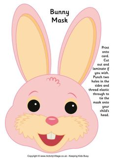 Printable Bunny Mask Easter is around the corner check out some ideas for Easter Recipes