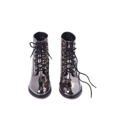 CHARLIE LACE UP BOOT (2.910 RUB) ❤ liked on Polyvore featuring shoes, boots, ankle booties, mid heel booties, rounded toe boots, round toe boots, round toe booties and faux-fur boots