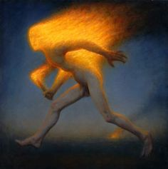 Fire Spirit oil on linen, 36 x 36 inches, 2012 collection of the artist. Paintings of Conor Walton.