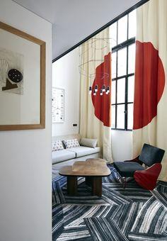 New Rooms with Mondrian-inspired Colour at Hôtel du Ministère, Paris… Interior Design Boards, Modern Interior Design, Luxury Interior, Home Decor Bedroom, Living Room Decor, Dining Room, Decoration Inspiration, Decor Ideas, European Home Decor