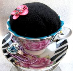Tea Cup Pin Cushion by mycreativeclutter on Etsy, $10.00