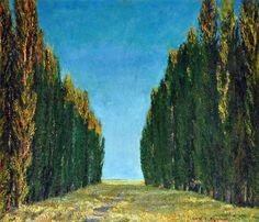 Avenida de los Alamos. Oleo sobre lienzo. 70x80cm. 1930c. http://www.zurbaran.com.ar/luis-aquino/
