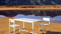 Mesa para exterior colo blanca con el mejor diseño y durabilidad http://www.elemento3.com/
