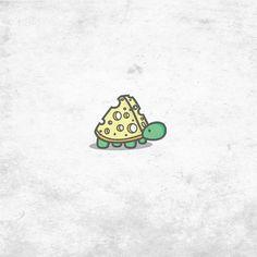 Cheese turtle logo concept @enrico_design